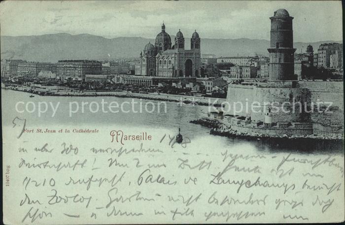 Marseille Fort St Jean et la Cathedrale / Marseille /Arrond. de Marseille