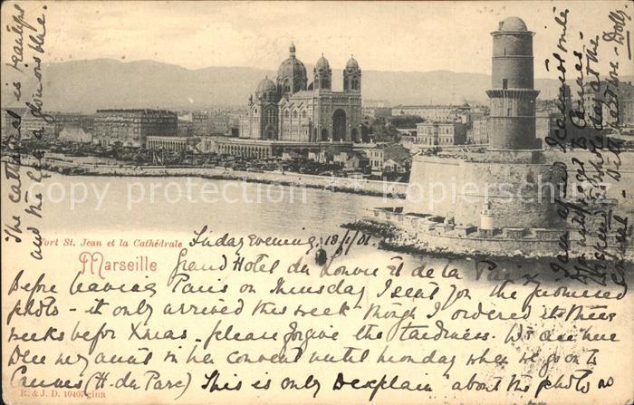 Marseille Fort Saint Jean et la Cathedrale / Marseille /Arrond. de Marseille