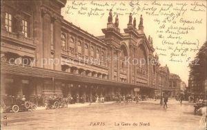 Paris La Gare du Nord Bahnhof Kat. Paris