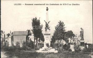 Lillers Monument commemoratif des Combattants de 1870 71 au Cimetiere Kat. Lillers