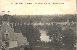 Saint Florent sur Cher Pont et Viaduc sur le Cher vue prise du Chateau Kat. Saint Florent sur Cher