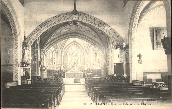 Meillant Interieur de l Eglise Kat. Meillant