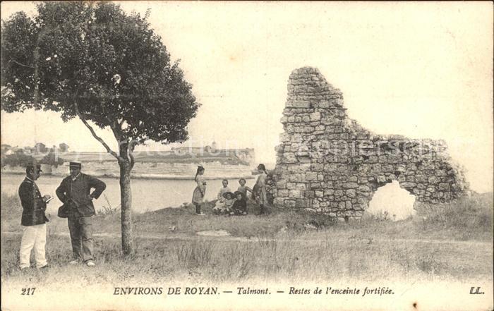 Talmont sur Gironde Restes de l enceinte fortifiee Kat. Talmont sur Gironde