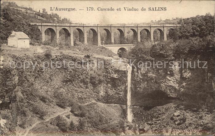 Salins Mauriac Cascade et Viaduc Kat. Salins