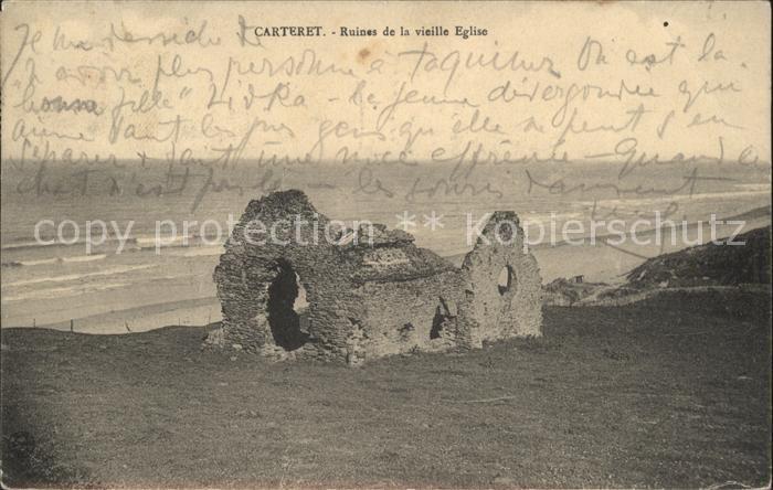 Carteret Manche Ruines de la vieille Eglise Kat. Barneville Carteret