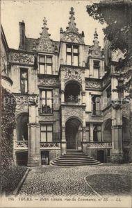 Tours Indre et Loire Hotel Gouin Facade Rue du Commerce Kat. Tours
