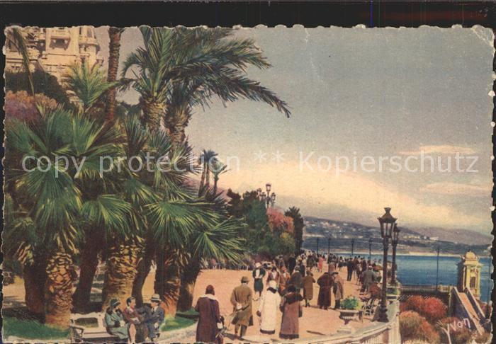 Monte Carlo Terrasses du Casino Principaute de Monaco Stempel Kat. Monte Carlo