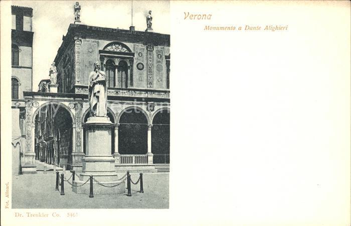 Verona Veneto Monumento a Dante Alighieri Kat. Verona