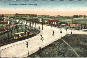Roubaix Boulevard von Lille nach Roubaix Tourcoing Strassenbahn Kat. Roubaix