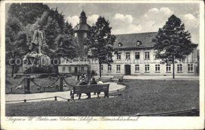 Siegen Westfalen Partie am Unteren Schloss Bismarckdenkmal Kat. Siegen