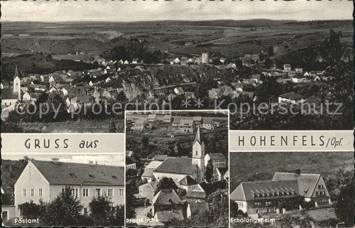 Hohenfels Oberpfalz Gesamtansicht Postamt Pfarrkirche Erholungsheim Kat. Hohenfels