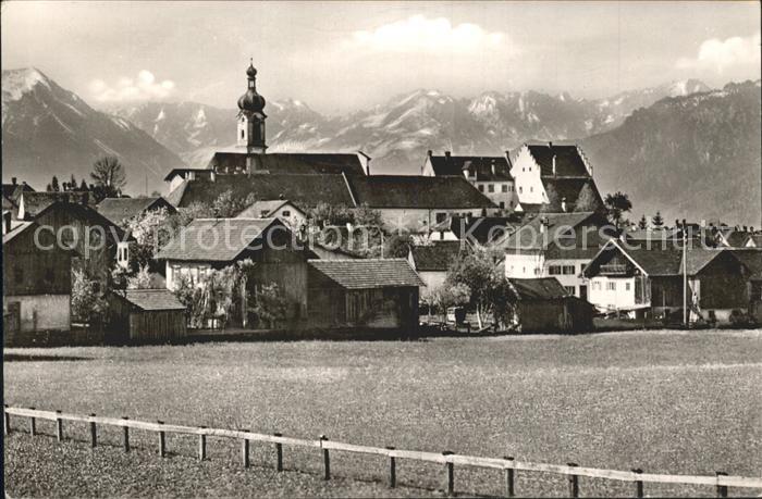 Murnau Ortsansicht mit Kirche Alpen Kat. Murnau a.Staffelsee