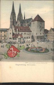 Regensburg Moltkeplatz Dom Wappen Kat. Regensburg