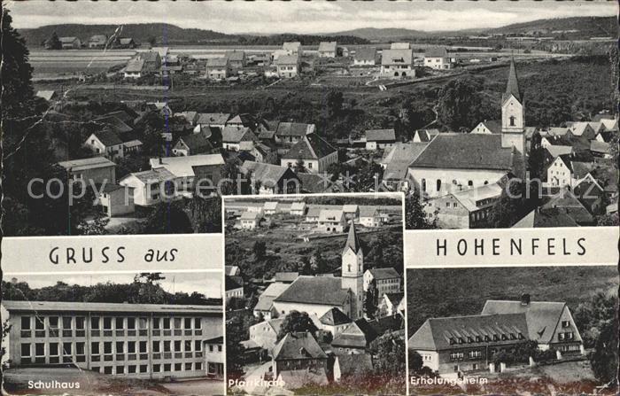 Hohenfels Oberpfalz Ortsansicht mit Kirche Schulhaus Erholungsheim Kat. Hohenfels