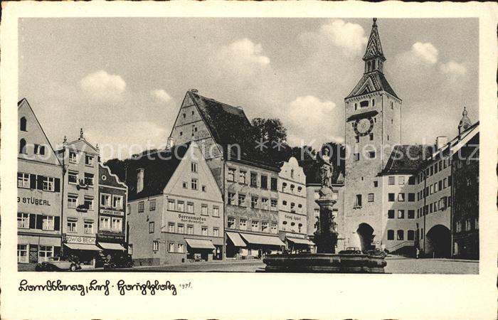 Landsberg Lech Hauptplatz mit Marienbrunnen Kat. Landsberg am Lech