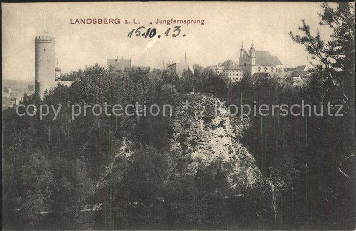 Landsberg Lech Jungfernsprung Turm Kat. Landsberg am Lech