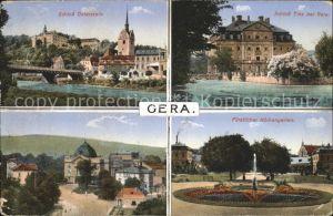 Gera Schloss Osterstein Tinz Fuerstlicher Kuechengarten Park Kat. Gera