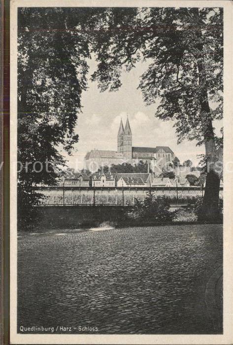 Quedlinburg Blick zum Schloss Kat. Quedlinburg