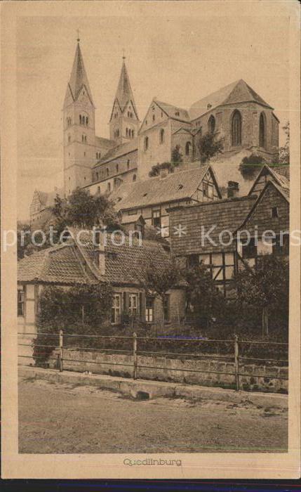 Quedlinburg Blick zum Schloss und Dom Kat. Quedlinburg