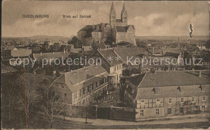 Quedlinburg Blick auf das Schloss Kat. Quedlinburg