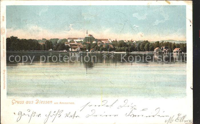 Diessen Ammersee Ansicht vom See aus Kat. Diessen a.Ammersee