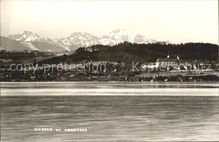 Diessen Ammersee Ansicht vom See aus Alpen Kat. Diessen a.Ammersee
