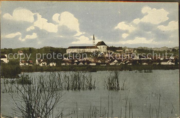 Diessen Ammersee Ansicht vom See aus Kloster Kat. Diessen a.Ammersee