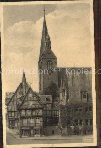 Quedlinburg Partie am Markt Kirche Kat. Quedlinburg