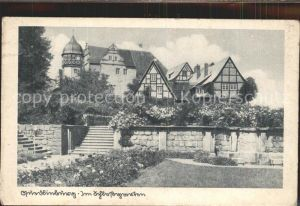 Quedlinburg Partie im Schlossgarten Kupfertiefdruck Kat. Quedlinburg