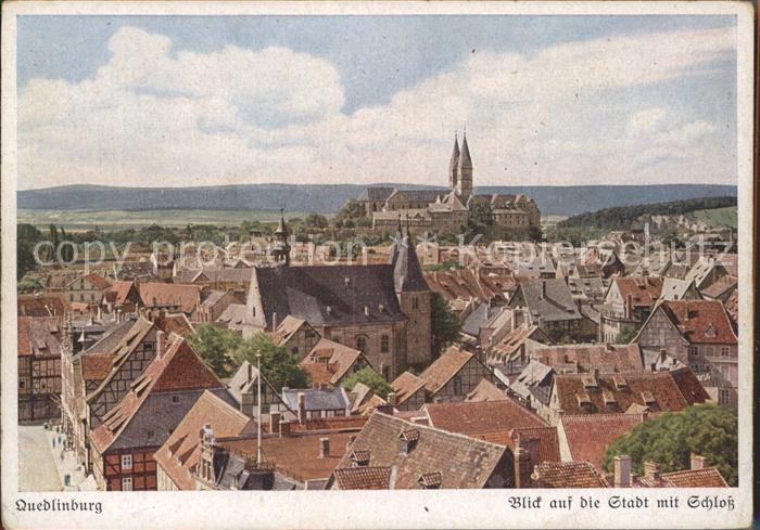 Quedlinburg Rund um das Quedlinburger Schloss Kat. Quedlinburg