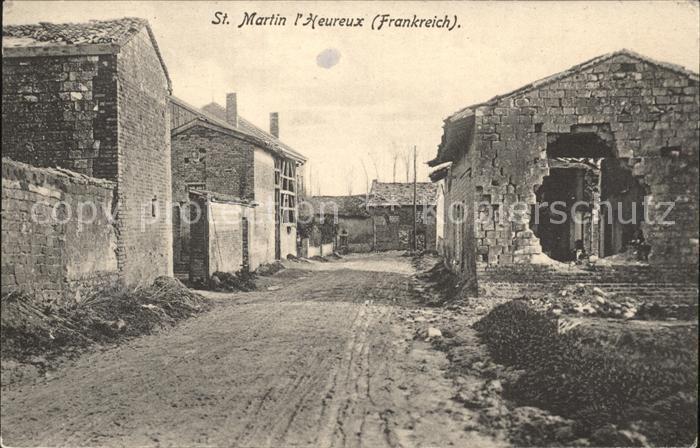 Saint Martin l Heureux Dorfstrasse Zerstoerte Haeuser Kat. Saint Martin l Heureux