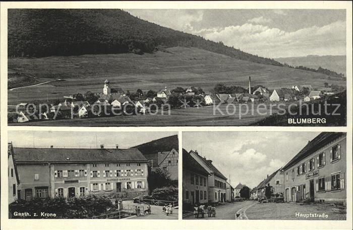 Blumberg Baden Gasthof zur Krone Hauptstrasse Kat. Blumberg