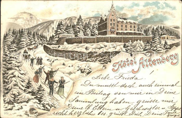 Altenberg Elsass Hotel Altenberg Ski Pferdekutsche Kat. Bergheim