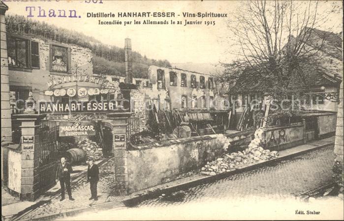 Thann Haut Rhin Elsass Distillerle Hanhart Esser Vins Spiritueux  Kat. Thann