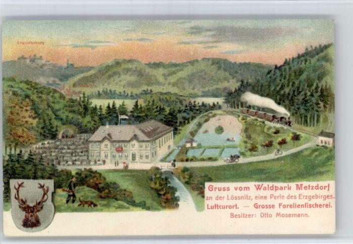 Loessnitz Erzgebirge Loessnitz Erzgebirgskreis Waldpark Metzdorf x / Loessnitz /Erzgebirgskreis LKR