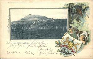 Hohenstaufen Ansicht mit Wappen / Goeppingen /Goeppingen LKR