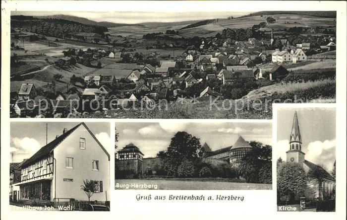 Breitenbach Herzberg Burg Herzberg Kirche Textilhaus Johann Wahl / Breitenbach a. Herzberg /Hersfeld-Rotenburg LKR