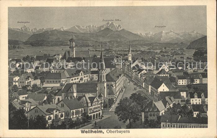 Weilheim Oberbayern Zugspitze / Weilheim i.OB /Weilheim-Schongau LKR