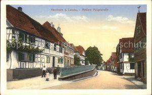 Herxheim Pfalz Mittlere Hauptstrasse / Herxheim bei Landau/ Pfalz /Suedliche Weinstrasse LKR