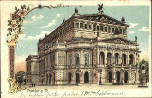 Frankfurt Main Opernhaus Litho / Frankfurt am Main /Frankfurt Main Stadtkreis