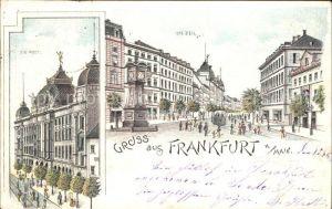 Frankfurt Main Zeil Post Litho / Frankfurt am Main /Frankfurt Main Stadtkreis