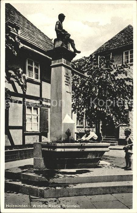 Holzminden Weser Wilhelm Raabe Bruennlein Kat. Holzminden