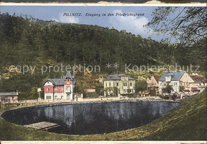 Pillnitz Partie im Friedrichsgrund Gondelteich Kat. Dresden