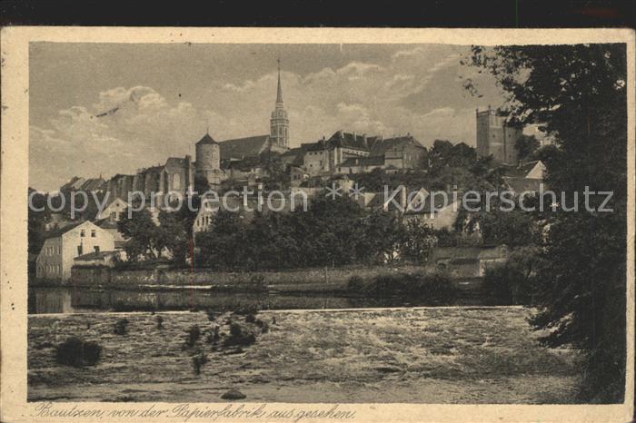 Bautzen Blick von der Papierfabrik Kat. Bautzen