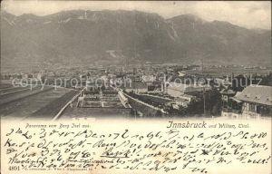 Innsbruck und Wilten Panoramablick vom Berg Isel Kat. Innsbruck