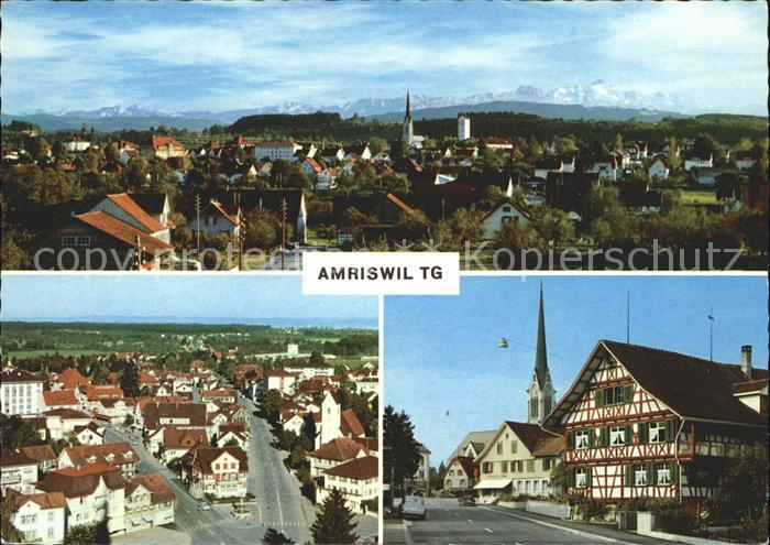 Amriswil TG Panorama Ortsansicht Strassenpartie Kat. Amriswil