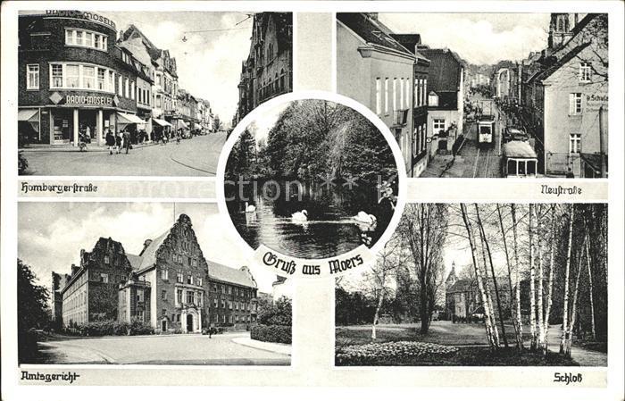 Moers Schloss Amtsgericht Neustrasse Kat. Moers