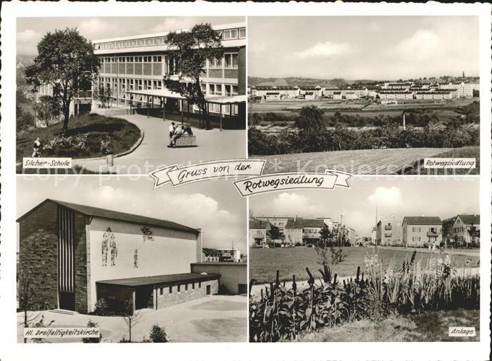 Zuffenhausen Rotwegsiedlung Silcher Schule Kat. Stuttgart