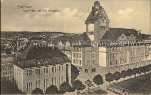 Pforzheim Friedrichsschule Reichsbank Kat. Pforzheim