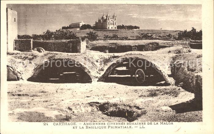Carthage Karthago Anciennes Citernes Romaines de la Malga Basilique Primatiale Kat. Tunis